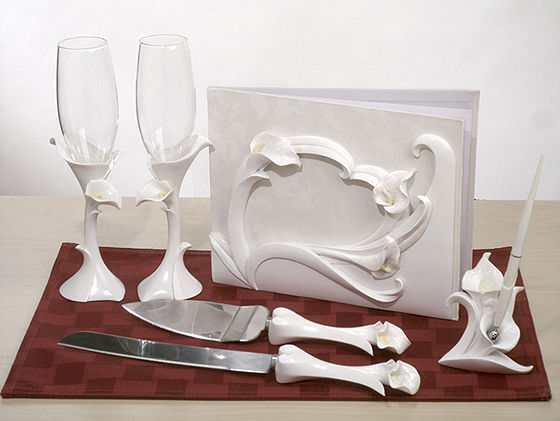 Calla Lily Wedding Accessory Gift Set 1 or Calla Lily Wedding Accessory