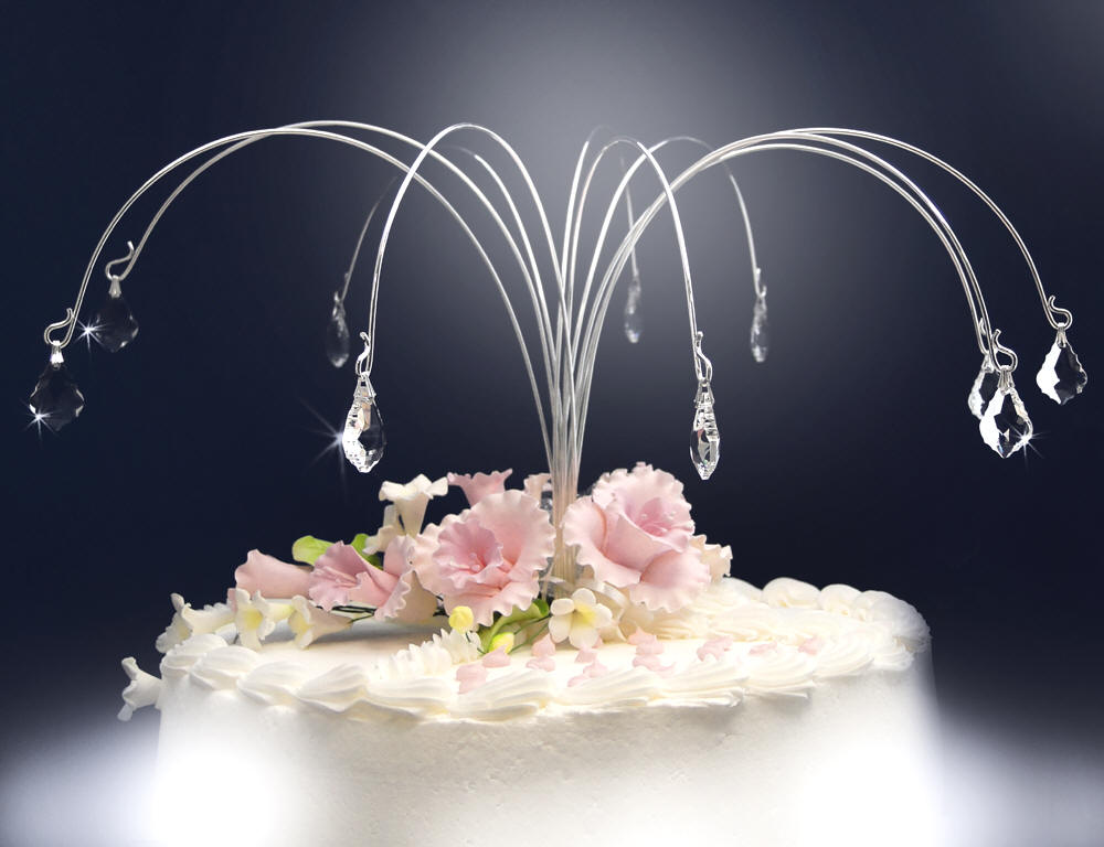 Arching Drops Of Crystals Wedding Cake Jewelry, Wedding Cake Jewels, Wedding  Cake Topper