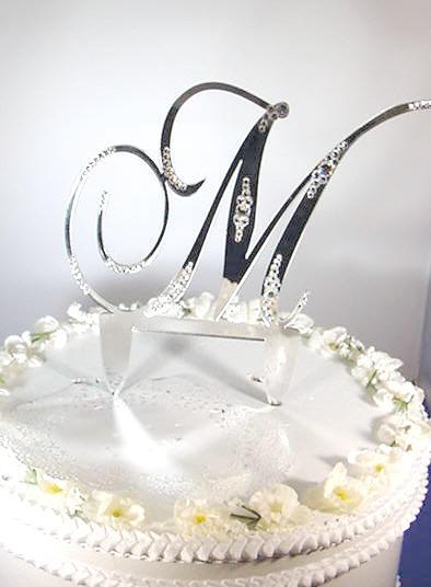 M M Cake Topper