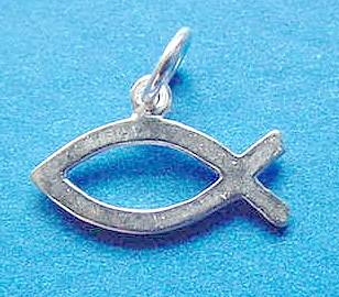 Jewelry by rhonda sterling silver c charms for wedding for Christian fish meaning