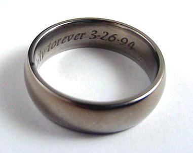 engraved engagement titanium bands band platinum wedding rings mens