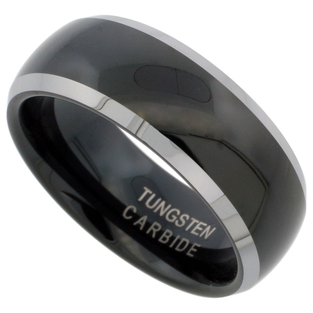 weddingbandspage6 tungsten carbide wedding bands black finish tungsten carbide wedding ring