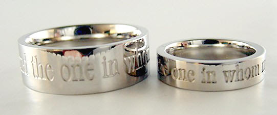 i have found the one in whom my soul delights stainless steel bride and groom wedding - The One Ring Wedding Band