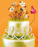 wedding cake toppers, monogram wedding cake toppers, wedding cake jewelry